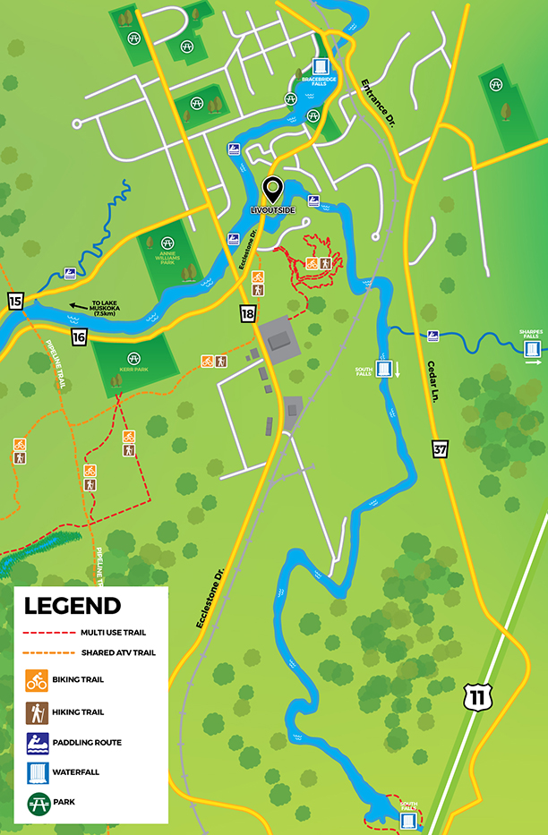 LivOutside Trail Map