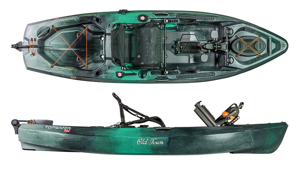 Old Town Topwater 10 6 PDL Fishing Kayak