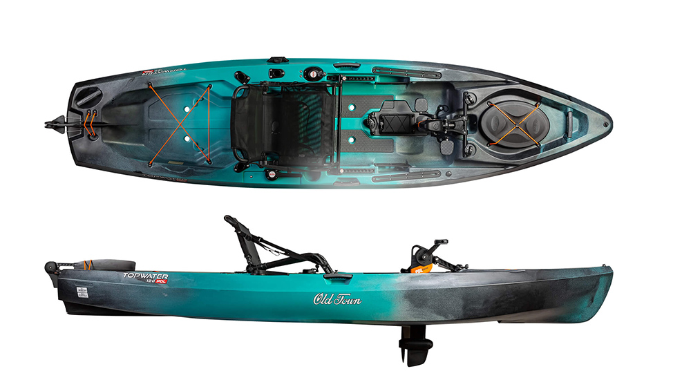 Old Town Topwater 12 PDL Fishing Kayak (Just Released!)